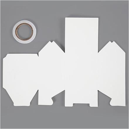 Hus To-families-hus størrelse 8 x 6,5 x 11,5 cm 230 gram hvid 230 gram   8 stk.
