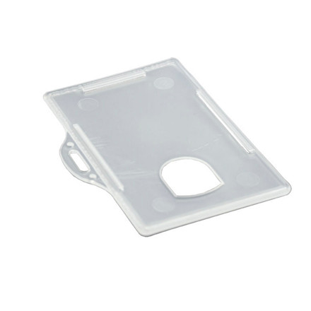 ID-kort-holder liggende plast transparent