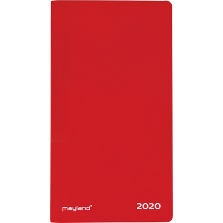 Indexplanner m/tlf.reg. rød rød 9x17cm lakvinyl 20 0900 10