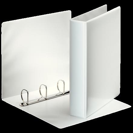 Indstiksmappe Esselte A4 hvid med 4 ringe og 63 mm ryg - 49704