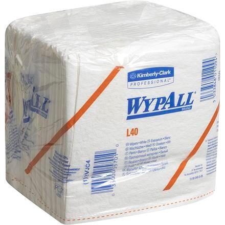 Industri aftørring WyPall L40 1/4 fold i pose hvid Bredde 31,7 cm | Længde 33 cm