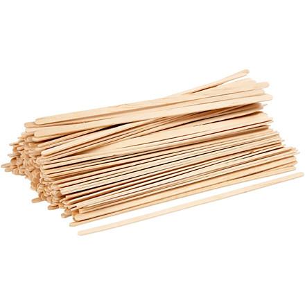 Ispinde, L: 19 cm, B: 6 mm, birk, lange, tynde, 200stk.