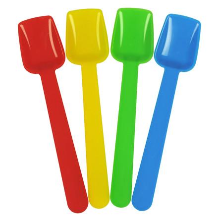 Isspade 9,5 cm - 1000 stk - I assorteret farver