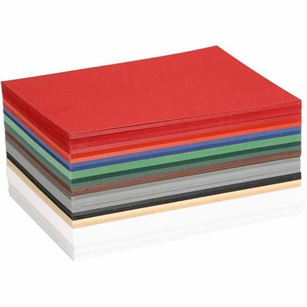 Julekarton A6 10,5 x 15 cm 180 gram assorteret farver   300 ark