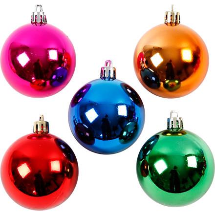 Julekugler diameter 6 cm stærke farver | 20 stk.