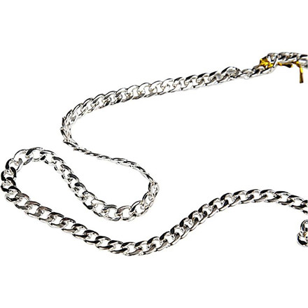 Kæde, B: 8 mm, forsølvet, FS, 1m