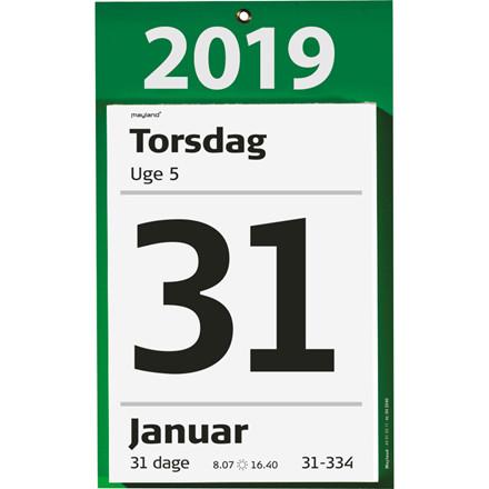 Mayland 2019 Kæmpeafrivningskalender med bagsidetekst 16,5 x 23,5 cm - 19 2540 00