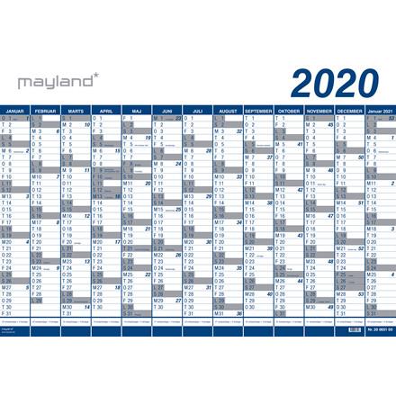Kæmpekalender 13mdr PP plast 100x70cm 20 0651 00