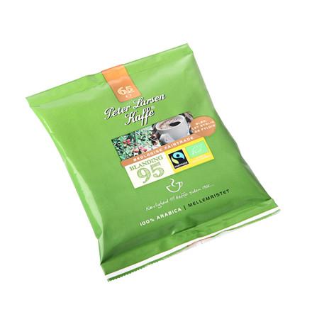 Kaffe, formalet, Peter Larsen, Grøn Blanding 95, Økologisk, Fairtrade, 65 g