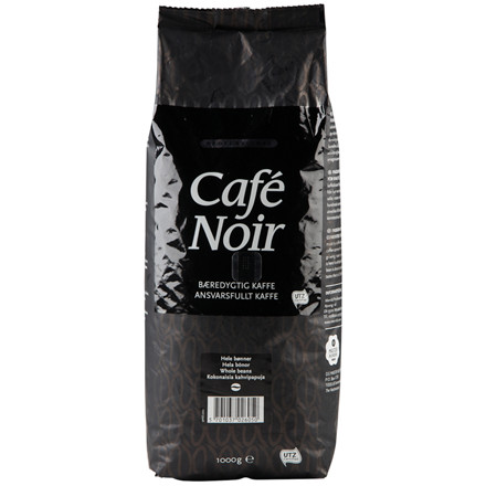 Kaffe, helbønner, Café Noir, 1 kg