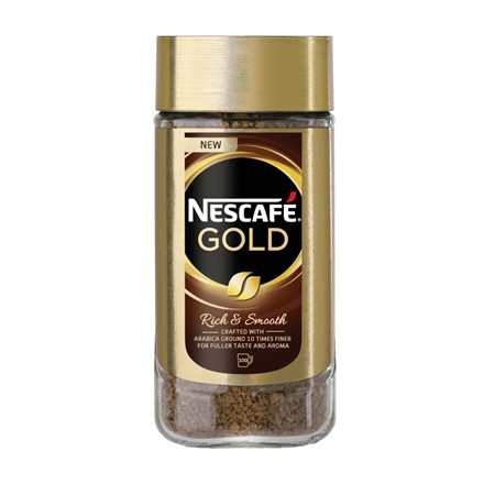 Kaffe, instant, Nescafé, Gold, glas, 200 g