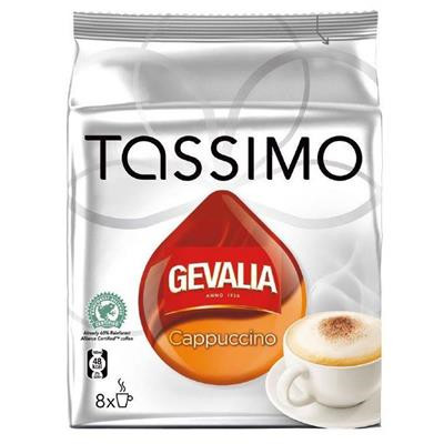 Kaffe, kapsler, Gevalia, Tassimo, cappuccino, 8 stk