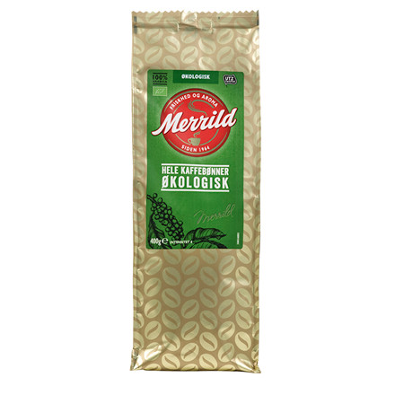 Kaffe Merrild Økologisk helbønne 400g/ps