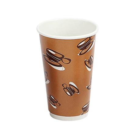 Kaffebæger Hot Cup Double Wall - pap - 45 cl - 500 stk.