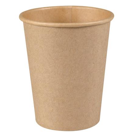 Kaffebæger, Abena Gastro-Line, 9,2cm, Ø8cm, 24 cl, brun, kraft/PE, 8 oz