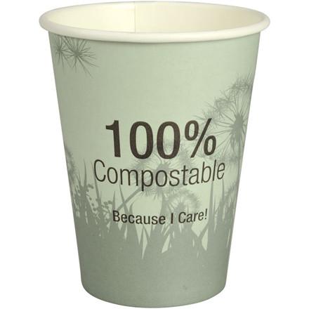 Kaffebæger, Abena Gastro-Line, Dandelion, 11cm, Ø9cm, 36 cl, flerfarvet, PLA/pap, 12 oz, komposterbar
