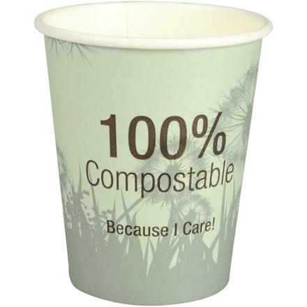 Kaffebæger, Abena Gastro-Line, Dandelion, 9cm, Ø8cm, 24 cl, flerfarvet, CPLA/pap, 8 oz, komposterbar
