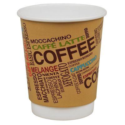 Kaffebæger, Gastro-Line, brun, Double Wall, Grafic, 24 cl,