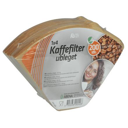 Kaffefilter, Rul-let, ubleget, 1X4, 200