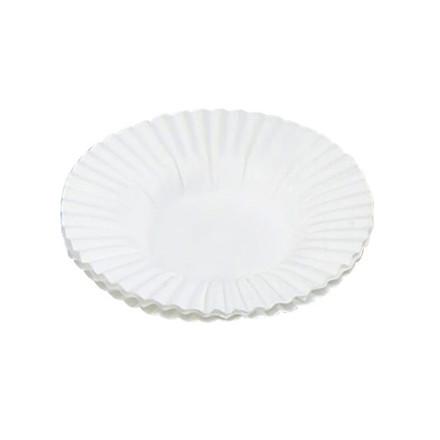 Kagekapsel præstekrave hvid 105 x 16 mm - 4,5 cm bund - 500 stk.