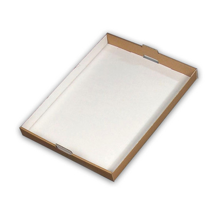Kagemandsæske hvid stabelbar - 600 x 430 x 46 mm