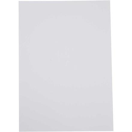 Karton, 14,8x21 cm, hvid, 100 ark
