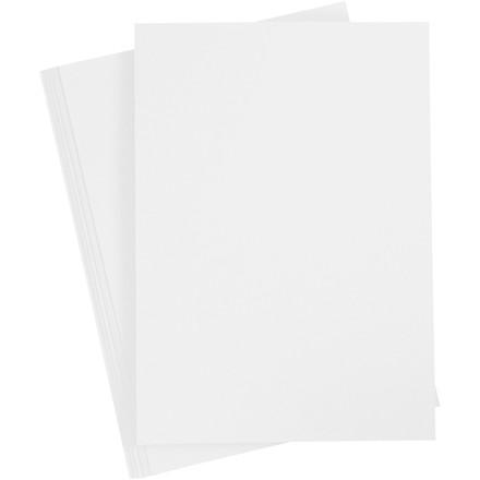 Karton, A4 210x297 mm, 210-220 g, hvid, 10ark