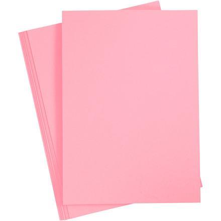 Karton, A4 210x297 mm, 210 g, mørk rosa, 10ark