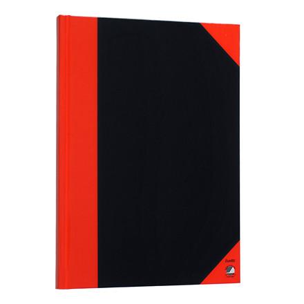 Kinabog - A4 sort med røde hjørner