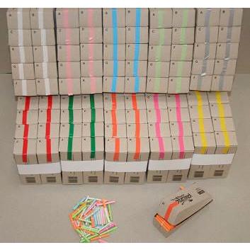 Kinesisk lotteri - Blå - Æske med 200 numre