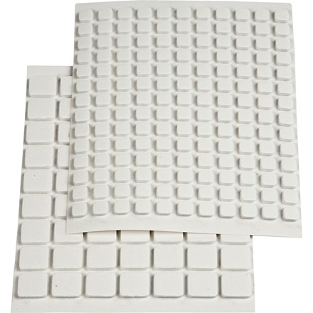 Klæbepuder 3D, str. 10x10x2 mm, str. 5x5x2 mm, hvid, 217ass.
