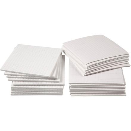 Klæbepuder 3D, str. 5x5 mm, tykkelse 1-2-3 mm, 30ass. ark