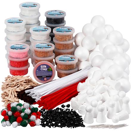 Klassesæt til polardyr af Foam Clay®, 1sæt