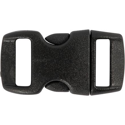Kliklås, B: 15 mm, L: 29 mm, sort, 4stk.