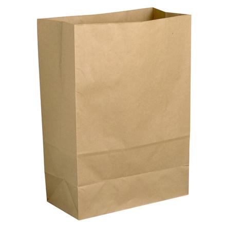 Klodsbundsposer, uden hank, med sidefals, brun, papir, 9L