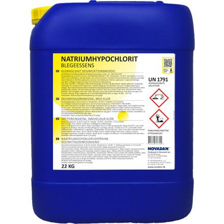 Klor - Natriumhypochlorit, Novadan, 22 kg