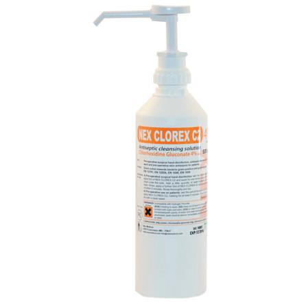 Klorhexidinsæbe 4%, Nex Clorex C2, 500 ml,