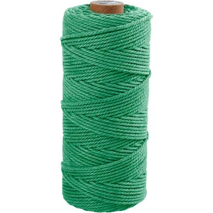 Knyttegarn længde 120 meter tykkelse 2 mm lys grøn Tyk kvalitet 12/36   250 gram