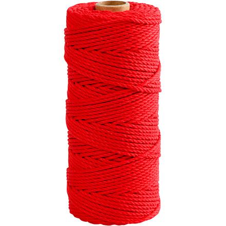 Knyttegarn længde 120 meter tykkelse 2 mm rød Tyk kvalitet 12/36 | 250 gram