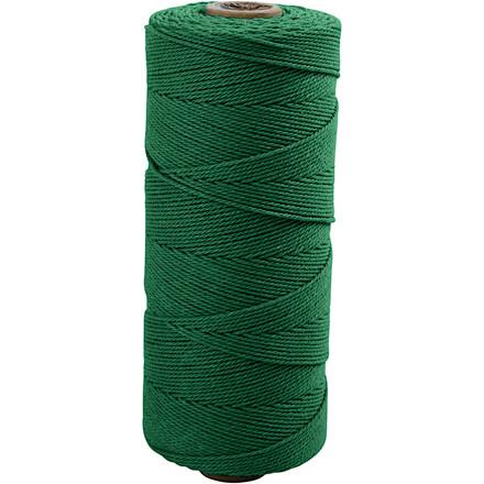 Knyttegarn længde 320 meter tykkelse 1 mm grøn Tynd kvalitet 12/12 | 250 gram