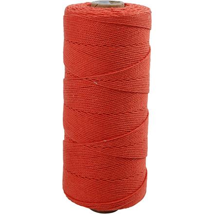 Knyttegarn, L: 320 m, tykkelse 1 mm, orange, Tynd kvalitet 12/12, 250g