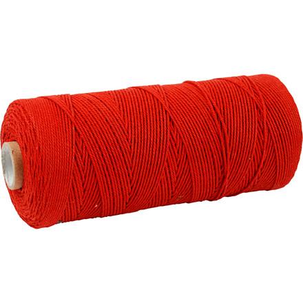 Knyttegarn længde 320 meter tykkelse 1 mm rød Tynd kvalitet 12/12 | 250 gram