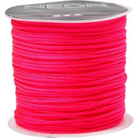 Knyttesnor, tykkelse 1 mm, neon pink, 28m