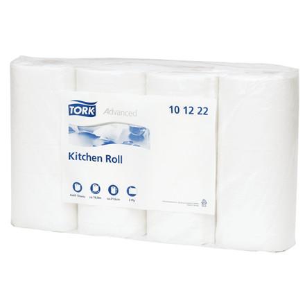 Køkkenrulle Tork Plus 2-lags hvid 21,6 cm x 16,8 meter   60 ark