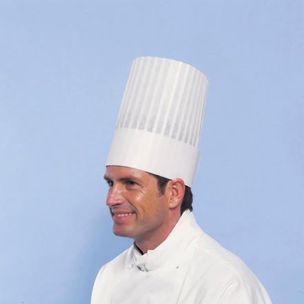 Kokkehue Le Grand Chef - Ekstra høj engangskokkehue - 10 stk