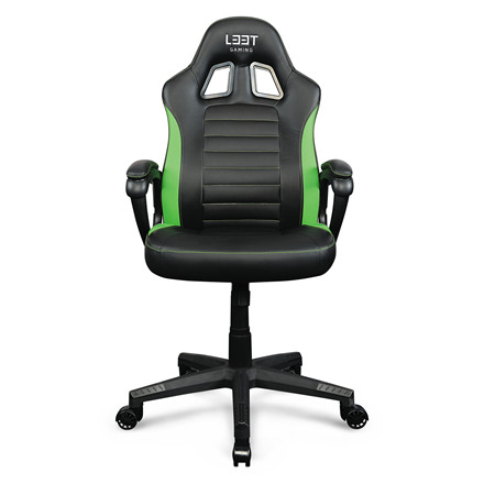 Gamer stol Encore L33T PU Gaming Entry Level - grøn + sort