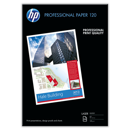 Kopipapir HP Professionel A3 Laser 120g Glossy 250ark/pak