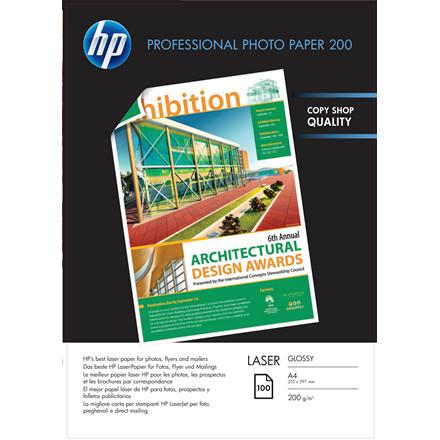 Kopipapir HP Professionel A4 Laser Photo 200g Glossy 100/pak