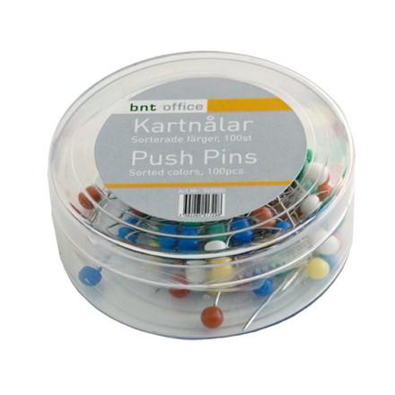 Kortnåle assorteret farver 4 mm x 20 mm - 100 stk/pak