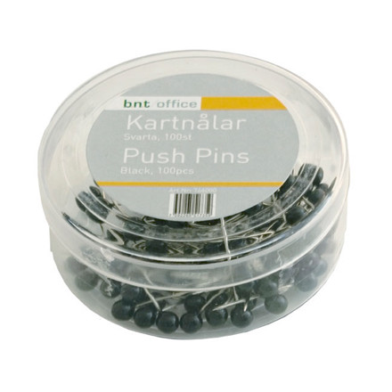 Kortnåle BNT 4 mm x 20 mm - sort 100 stk i pakken